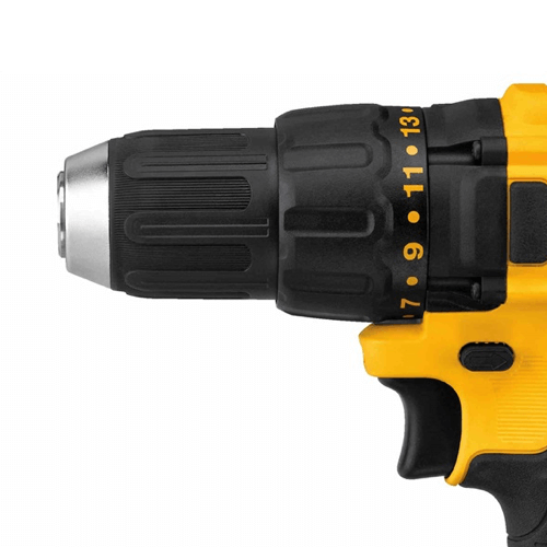 image showing the dewalt dcd777c2 drill driver clutch settings