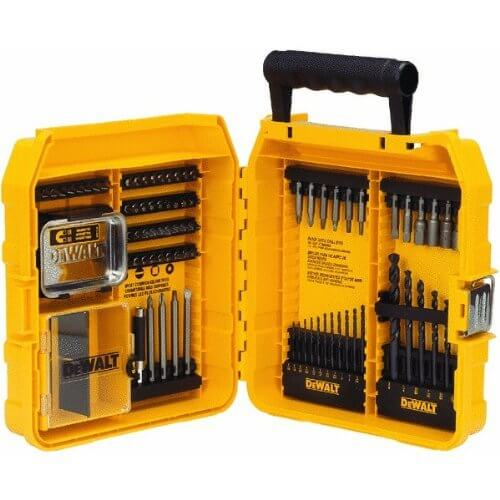 image of the dewalt dw2587 80 piece professional drilling driving set