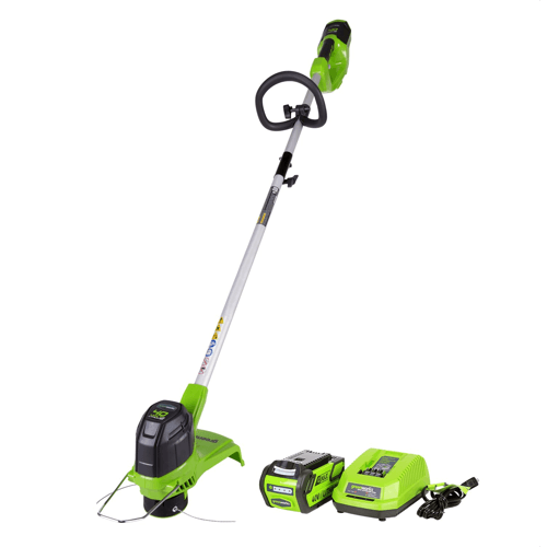 an image showing the Greenworks 12-Inch 40V Cordless String Trimmer, 2.0AH (Battery Included) 2101602