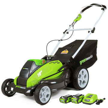 image of the Greenworks 25223 lawn mower