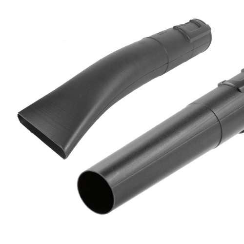 image showing both the flared and flat nozzles that come with the Husqvarna 125B leaf blower