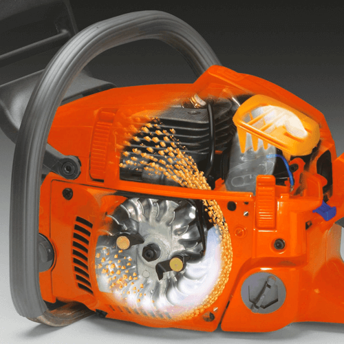 image showing the air injection system on the Husqvarna 455 Rancher chainsaw