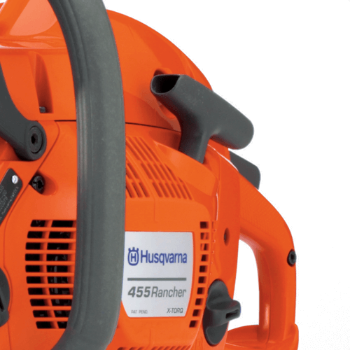 image showing the smart start pull starter on the Husqvarna 455 Rancher chainsaw