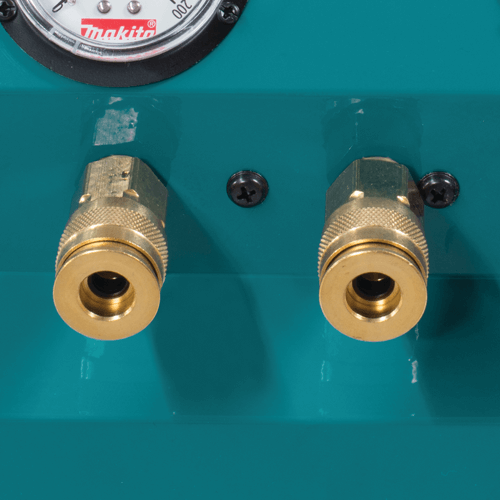 image showing the makita mac2400 big bore air compressors two outputs