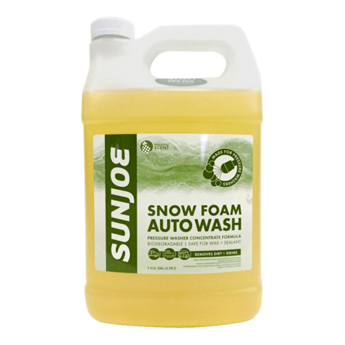 an image showing the Sun Joe SPX-FCS1G premium snow foam cannon soap and cleaner, 1-gallon