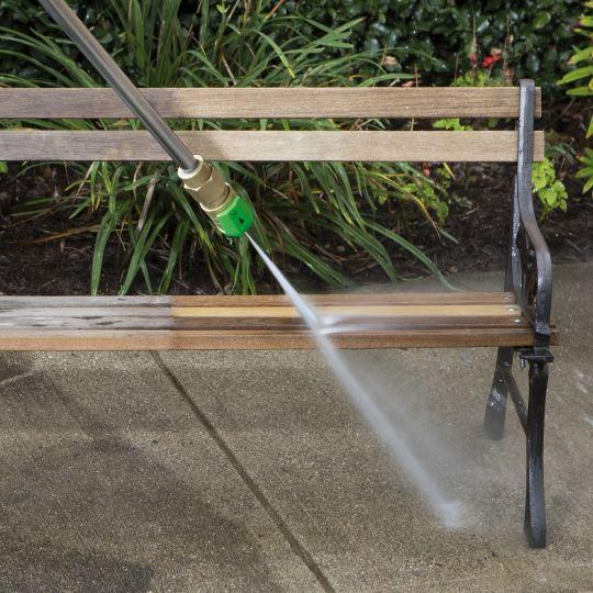 image of the sun joe spx3000 pressure washer cleaning garden furniture