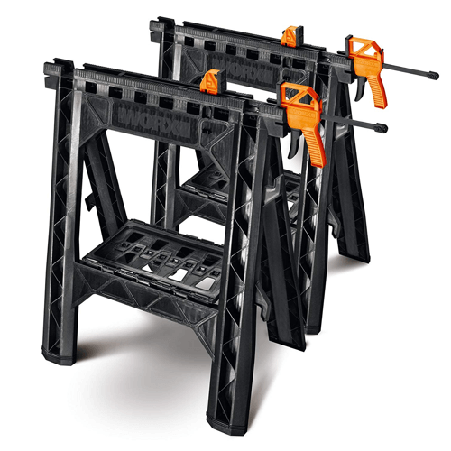 image of the worx clamping sawhorse pair wx065