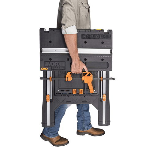 image of the worx pegasus multi function work table folded