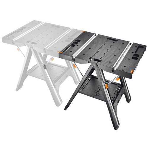 image showing how you can use multiple worx pegasus multi function work tables together