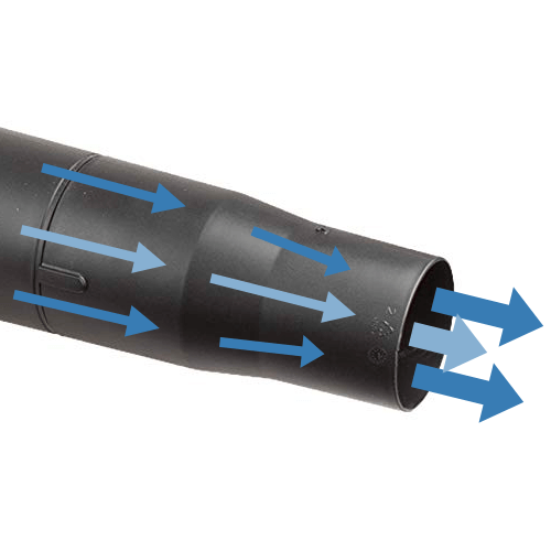 image showing the worx wg591 leaf blower hyper stream air nozzle