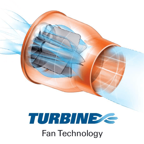 image showing how the worx wg591 leaf blower turbine technology works