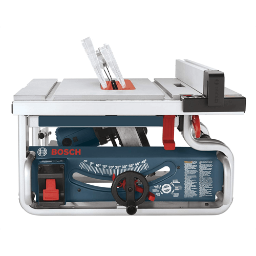 an image of the bosch table saw model number bosch gts1031 bevel function