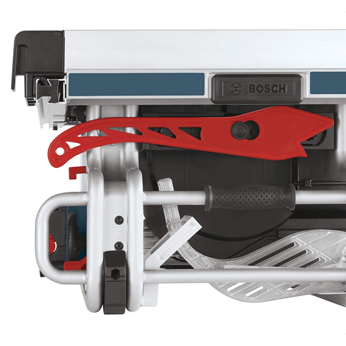 image of the bosch table saw model number bosch gts1031 built in storage