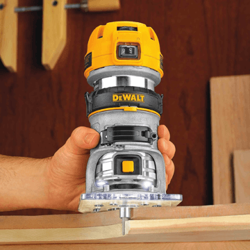 an image showing the DEWALT DWP611 Compact Router in use