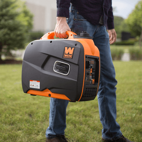 When it comes to answering the question - how long can you run a generator continuously - a portable generator will generally have the shortest possible usage time. This image shows one such generator, the WEN 56200i portable generator