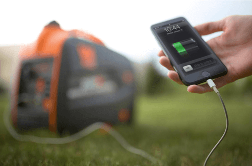 an image showing a generator charging a phone