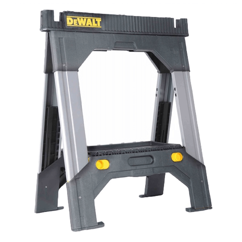 an image showing the DEWALT DWST11031 Adjustable Metal Legs Sawhorse