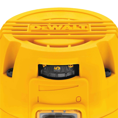 an image showing the variable speed control dial on the dewalt dwp611 compact router