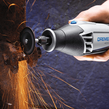 an image showing the Dremel 4000 Series Rotary Tool in use