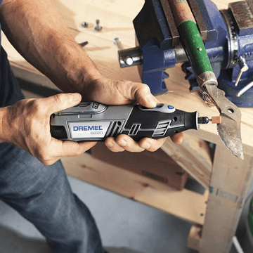 an image showing the Dremel 8220 cordless rotary tool in use