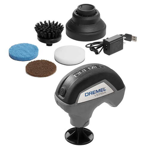 an image showing the Dremel versa power cleaner kit contents