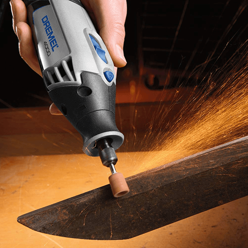 image of the dremel 4000 rotary tool in use