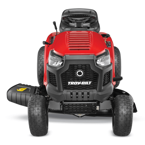 an image showing the headlights of the troy bilt pony riding mower