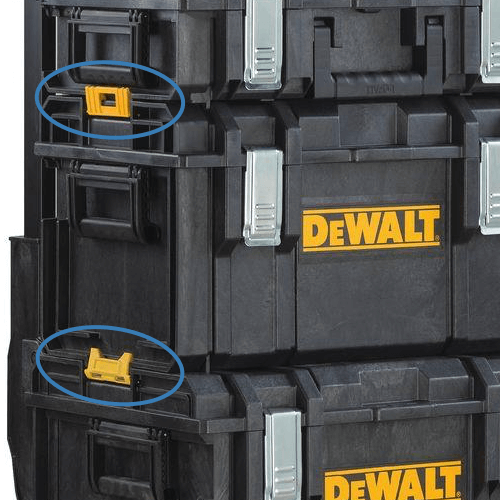 image showing how the various dewalt tough system accessories clip together