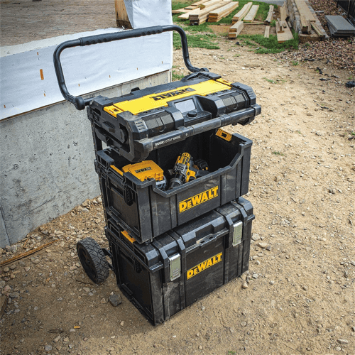 an image showing a particular dewalt tool box configuration in use