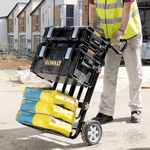 an image showing the DEWALT ToughSystem tool storage in use