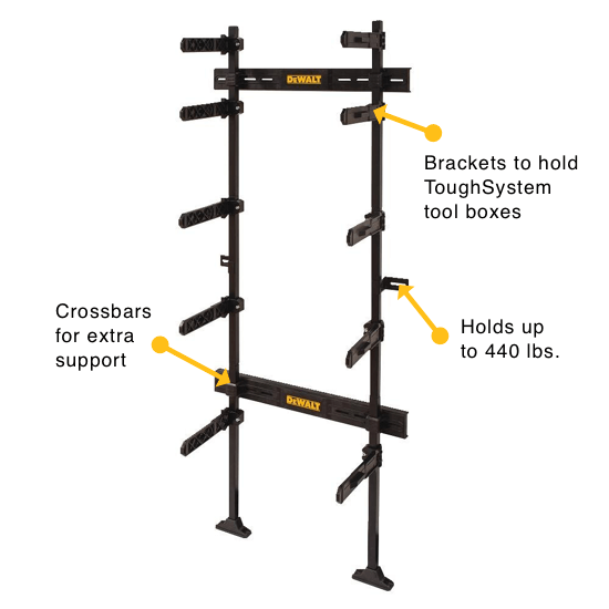 an image showing the DEWALT ToughSystem Workshop Racking System - DWST08260