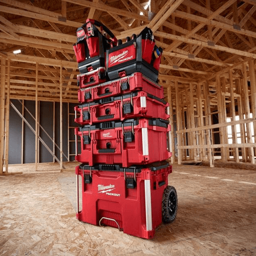 an image showing the milwaukee portable tool box kit otherwise known as the milwaukee packout system