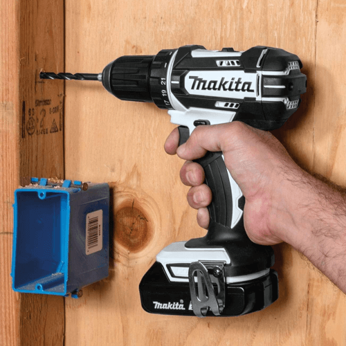image showing a makita drill driver in use