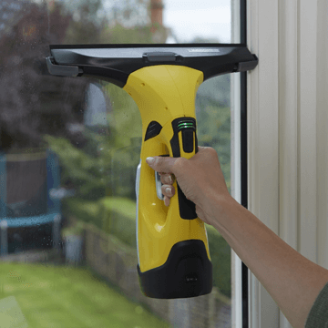 image showing the karcher window vac in use