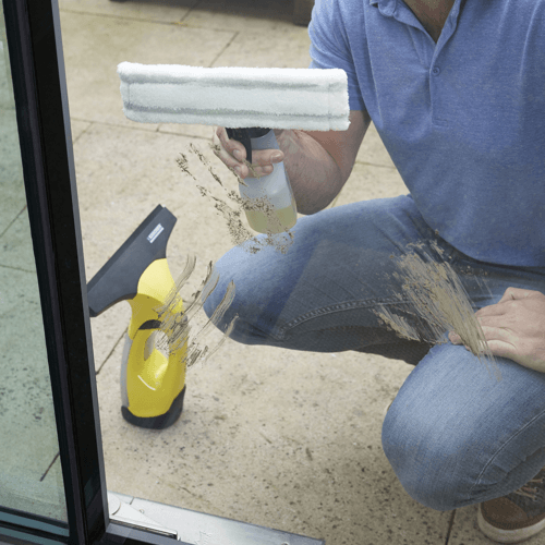 cleaning windows prior to using karcher wv2 model