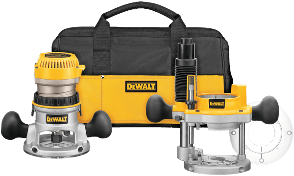 DEWALT DW618PKB 2.25-HP Variable Speed Soft Start Fixed Plunge Router