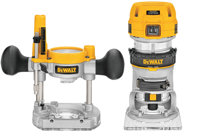 DEWALT DWP611PK Variable Speed 1-25-HP Max Torque Fixed Plunge Router Toolcrowd Image