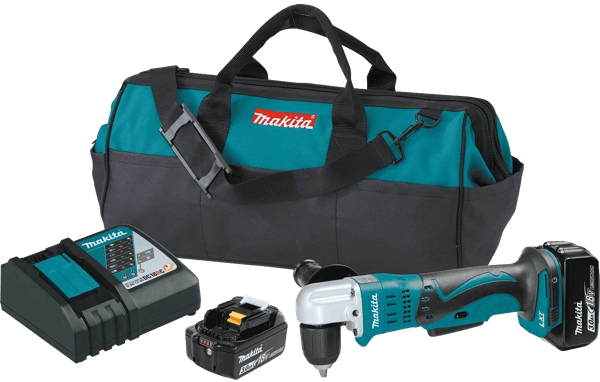 Makita XAD02 18V LXT Lithium-Ion Cordless 3-8 inch 3.0Ah Right Angle Drill Kit toolcrowd image