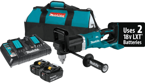 image of the 36V Makita right angle drill model reference XAD03PT