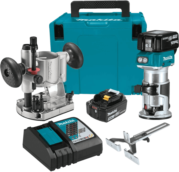 Makita XTR01T7 18V LXT Lithium-Ion Brushless Cordless Compact Fixed Plunge Router Toolcrowd Image