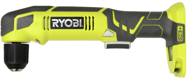 image of the Ryobi right angle drill model reference P241 One Plus 18 Volt Lithium Ion