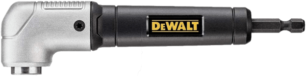 image of the dewalt right angle drill attachment model reference dwara120