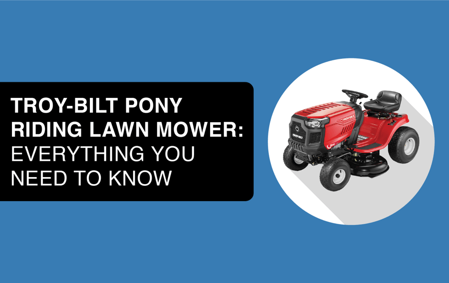 troy bilt pony riding lawnmower header image