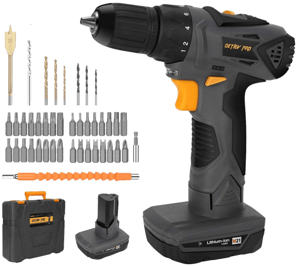 image of the DETLEV PRO G8104-Li, winner of the best cordless drill under $50 in the ToolCrowd Heavy Duty category