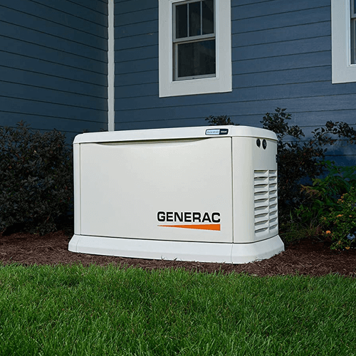 When it comes to answering the question - how long can you run a generator continuously - a standby generator will have the longest possible usage time. This image shows one such generator, the Generac 70361 home standby generator