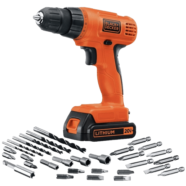 image of the Black and Decker LD120VA, a contender for the best cordless drill under $50