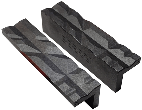 an image of a set of magnetic, reversible nylon vise jaws, one of our recommended drill press accesssories