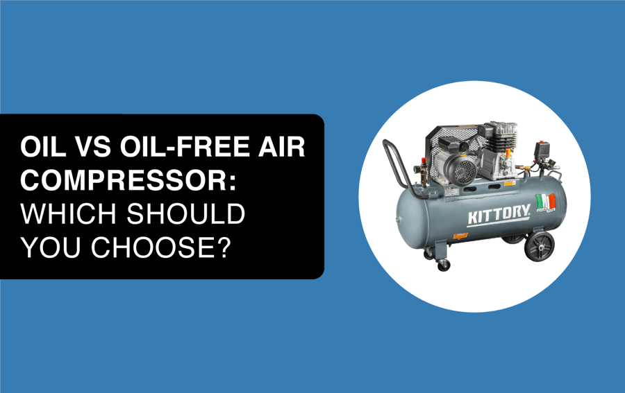 oil vs oil free air compressor article header image