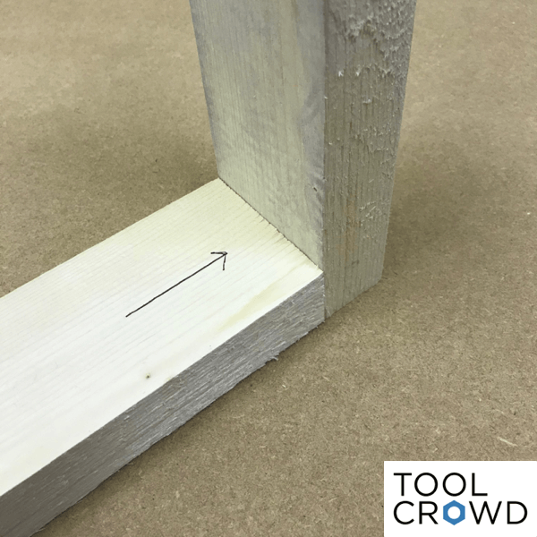 an image showing two pieces of wood set at 90 degrees