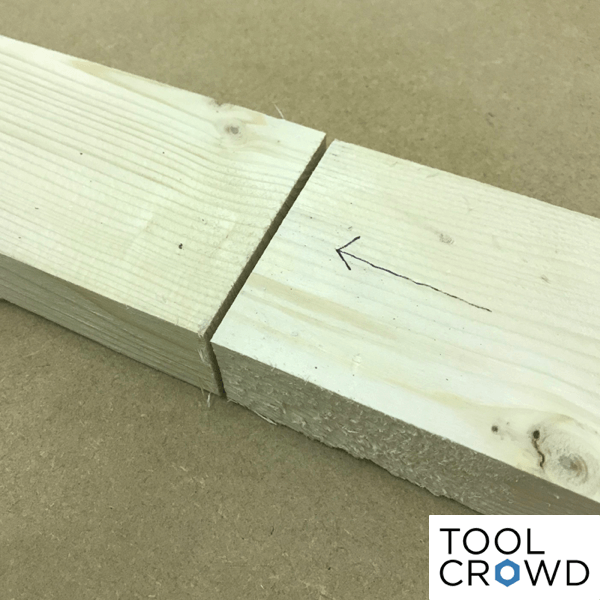 an image showing two pieces of wood butted together